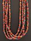 Multi Strand Native American Spiny Oyster Necklace by Marcella Teller