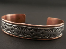 Native American Sterling Silver and Copper Bracelet