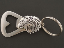Native American Eagle Bottle Opener Handmade Sterling Silver by Sam Gray