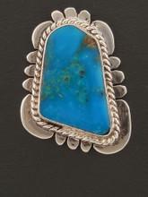 Authentic Navajo Handmade Blue Diamond Turquoise Earrings