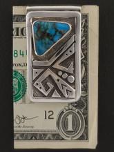Blue Diamond Turquoise Money Clip by Sam Gray
