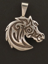 Silver Horse Pendant with Removable Bail