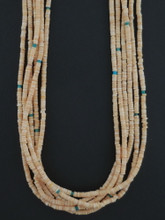 Multi Strand Heishi Necklace Native American Made by Marcella Teller