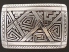 Authentic Navajo Handmade Sterling Silver Belt Buckle