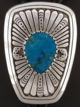 Custom Native American Handmade Turquoise Bolo Tie by Sam Gray
