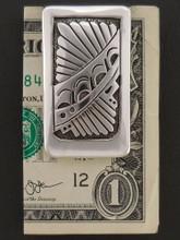 Sterling Silver Money Clip Custom Native American Handmade by Sam Gray