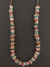 Native American Shell Necklace by Marcella Teller