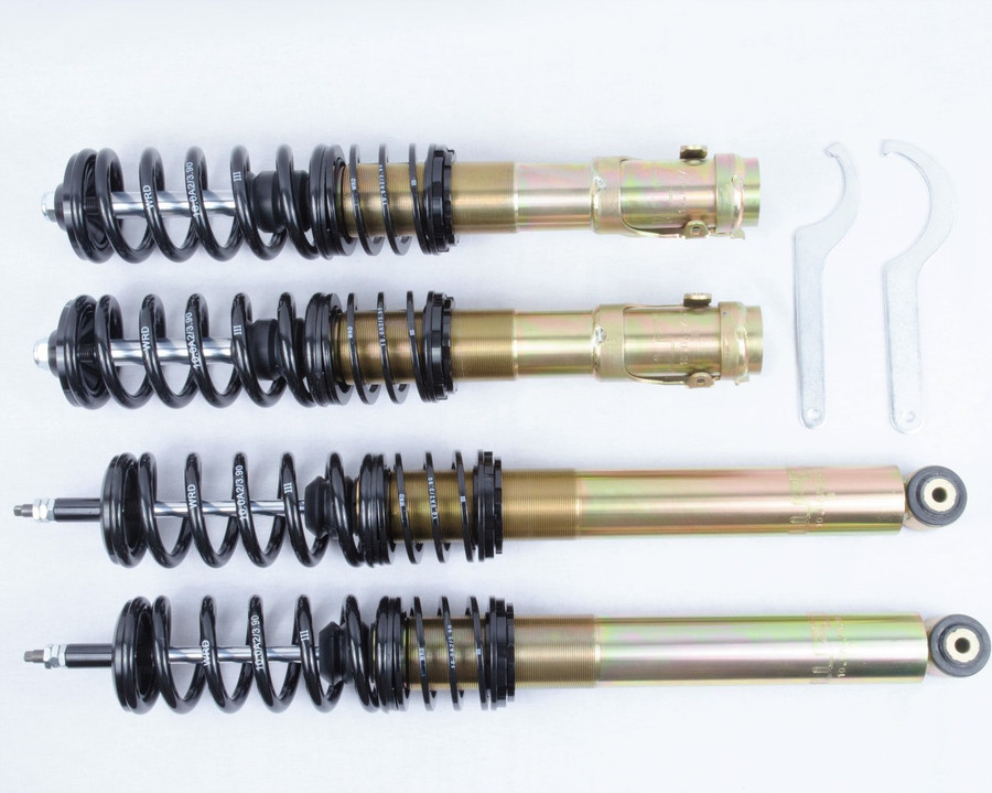 WRD Advantage Street Coilovers MK2/3 GTI, GOLF, JETTA 1985 - 1992, Gold Zinc