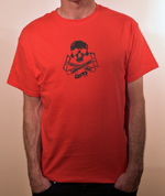 Special Edition Ride Shop BMX RED T Shirt Skull & Cranks