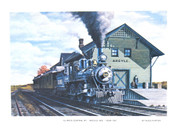 Illinois Central in Argyle WI Print -Russ Porter