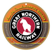 Great Northern Railway Wooden Plaque