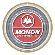 Monon Wooden Railway Plaque