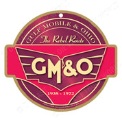 GM&O Wooden Railroad Plaque