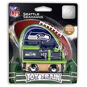 NFL Seattle Seahawks Wooden Train Engine