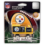 NFL Pittsburgh Steelers Wooden Train Engine