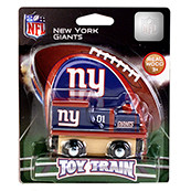 NFL New York Giants Wooden Train Engine