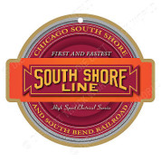 South Shore Line Wood Plaque