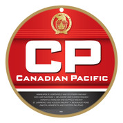 CP Canadian Pacific Wooden Plaque