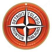 Detroit, Toledo & Ironton Railroad Wooden Plaque