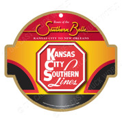 Kansas City Southern Lines Southern Belle Wooden Plaque
