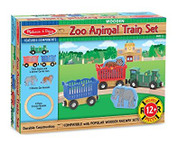 Melissa & Doug Children's Zoo Animal Train Set