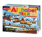 Melissa & Doug Alphabet Train Jumbo Jigsaw Floor Puzzle - Letters and Animals (28 pcs, 10 feet long)