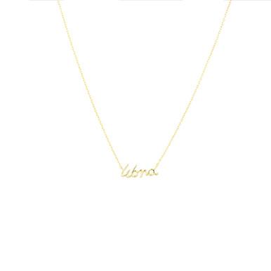 Libra Zodiac Script Necklace