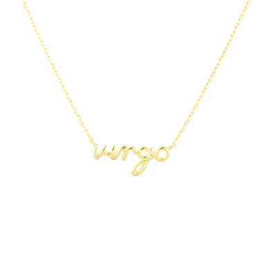 Virgo Zodiac Script Necklace