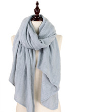 Solid Soft Knit Scarf Grey