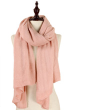 Solid Soft Knit Scarf Pink