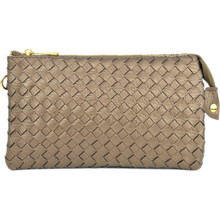 Perfect Woven Clutch Bronze