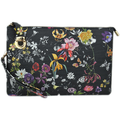 Floral Buckle Clutch
