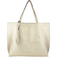 Jet Set Reversible Tote Gold Silver