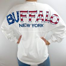Buffalo American Flag Spirit TShirt