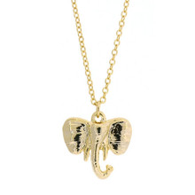 Elephant Necklace Gold