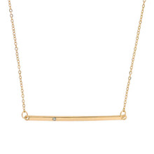 Sparkle Bar Necklace Gold