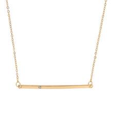 Sparkle Bar Necklace Gold
