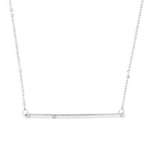 Sparkle Bar Necklace Silver