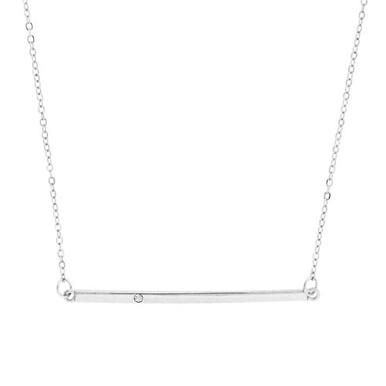 Sparkle Bar Necklace Silver