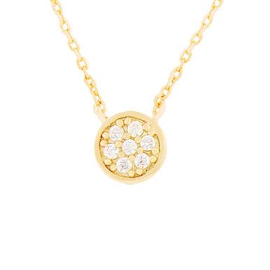 Crystal Station Necklace Gold