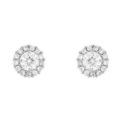 Crystal Party Stud Earring Silver