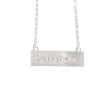 Buffalove Necklace Silver
