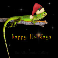 Happy Holidays, Santa Claus Iguana