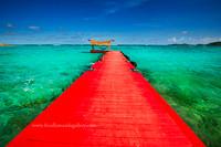 Red Dock, Necker Island- canvas