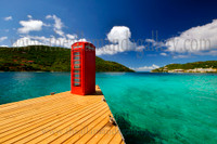 Phone box and Scrub Island