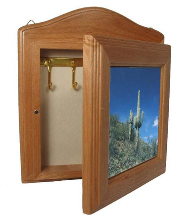 Key box with custom photo image. - Desert scene.