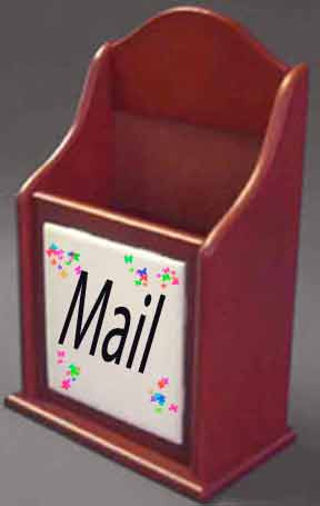 Letter box with custom photo tile.  Can also be used to organize desk accessories, bath items, , kitchen utensils, tv remote controls, etc.