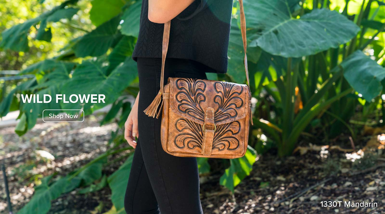 Wild Flower Leather Bags