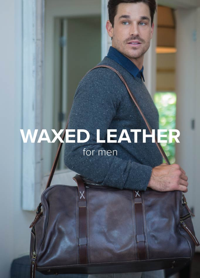 Waxed Leather Luggage Men