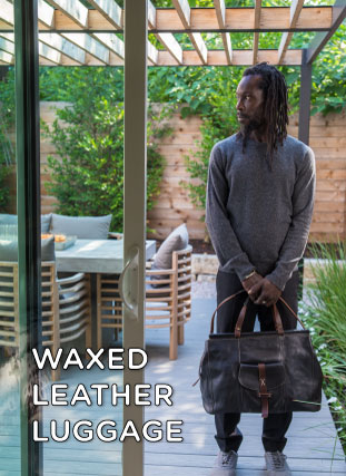 Waxed Leather Luggage